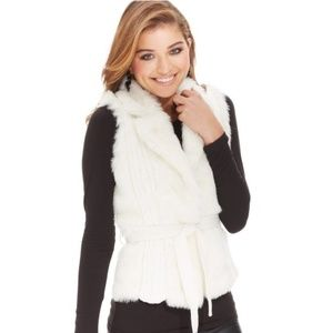 XOXO Juniors' Faux-Fur Sweater Vest Size Large